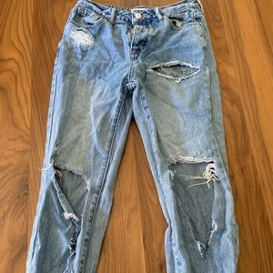 pacsun super distressed mom jeans